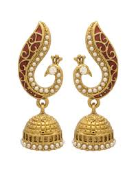 jhumka earrings online shopping buy jhumkis pearl silver gold plated jhumkis for women online