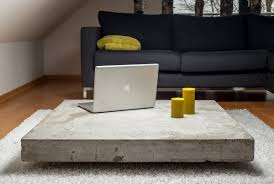 Coffee Table Design Plans Concrete Coffee Tables You Can Buy Or Build Yourself