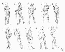 drawn man male body anatomy pencil and in color drawn man male