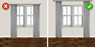 Hanging Curtains High And Wide Designs 16 Terrible Mistakes We Make In Living Room Design Avalanchers