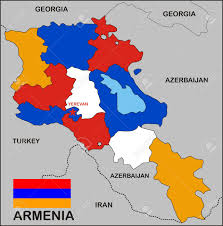 Red States Blue States Map by Political Map Of Armenia Country With Flag Stock Photo Picture