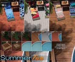 summer fun for round pool deck accessories for poser and daz studio