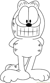 Garfield Halloween Coloring Pages Garfield Smiling Coloring Page Free Garfield Coloring Pages