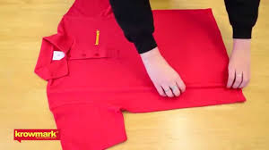 How to fold a polo shirt fast
