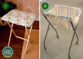 Tv Tray Table 10 Clever Ways To Make Over Your Tv Tray Tables Curbly