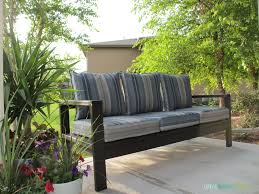 2x4 Outdoor Furniture by Diy Outdoor Couch Life On Virginia Street