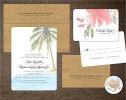 hawaiian themed wedding invitations hawaiian wedding invitations hawaiian wedding invitation il