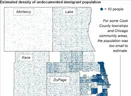 Chicago Area Code Map by Estimating The Chicago Area U0027s Undocumented Immigrant Population