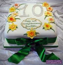 10th wedding anniversary cake anniversary cakes