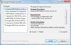 install android sdk android sdk manager install android platform jpg