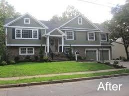split level garage bi level garage addition bi level style home addition after