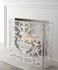 french country tuscan urn fleur de lis antique white fireplace
