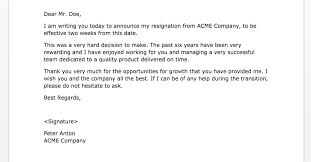 resignation examples printable resignation letter 2 week notice
