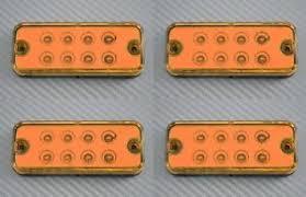 led clearance lights motorhomes set of 4 12v led amber side clearance marker lights caravan camper
