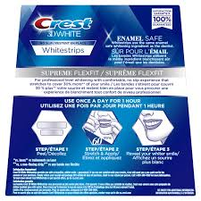 crest supreme whitening strips crest 3d whitestrips luxury supreme flexfit acheter dentalwhite fr