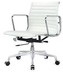 white leather desk chair eames office chair naderve info