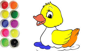 how to draw cute baby duck coloring pages art colors for