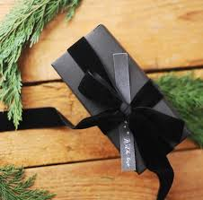 matte black wrapping paper wrap black matte paper and either black velvet ribbon or
