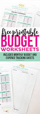 Budget Monthly Expenses Spreadsheet by Best 25 Monthly Budget Worksheets Ideas On Pinterest Budget