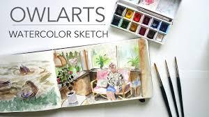 watercolor sketch on moleskine 5 youtube