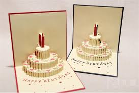 birthday 3d cards 3d card birthday cake 3d pop up gift greeting 3d