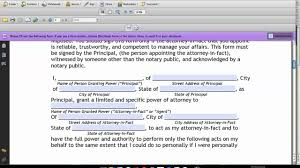 Limited Power Of Attorney Form by How To Fill Out A Limited Power Of Attorney Form On Vimeo
