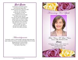 wording for funeral program funeral program templates purple