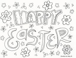happy easter coloring pages cecilymae