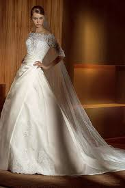 ruching a line satin vintage lace sleeves wedding gowns 2012