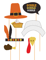 thanksgiving photo booth props items similar to thanksgiving photo booth props celebration props