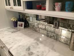 mirror backsplash kitchen antique mirror tiles the glass shoppe kitchen pinterest