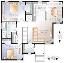 plano de casa moderna de 2 dormitorios planos pinterest