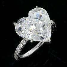 heart shaped diamond engagement ring 7 36cttw heart shaped diamond engagement ring 18k white gold