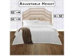 fashion bed group bedroom avignon upholstered adjustable headboard