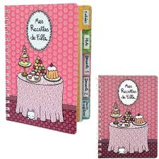 mes recettes de cuisine cahier vierge de cuisine mes recettes de fille à onglets carnet idée