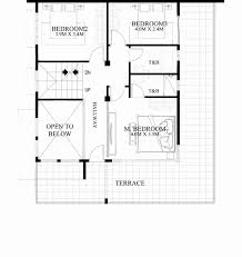 deck floor plan two storey house plan with roof deck best of two storey house plans
