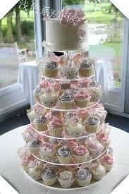 cupcake wedding cake free shipping circle clear 6 tier acrylic wedding cake stand