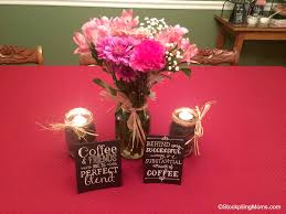 jar center pieces coffee bean jar centerpiece