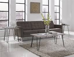 amazon com altra furniture owen retro coffee table with metal