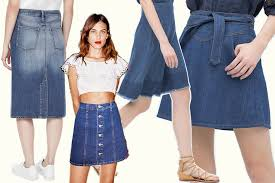 denim skirts 25 denim skirts to buy for summer 2015 the salad