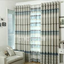 modern striped cotton and linen white and grey curtains