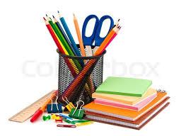 stationary set stationery set on white background stock photo colourbox