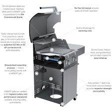 Backyard Grill 4 Burner by Saber 670 R67sc0012 4 Burner Ss Freestanding Lp Grill