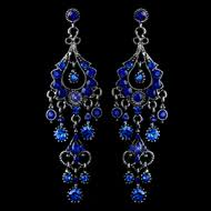 royal blue earrings prom jewelry