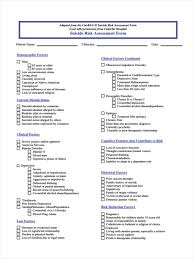 6 standard risk assessment forms free sample example format