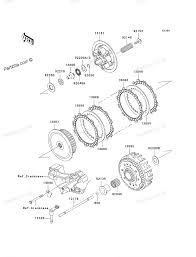 kawasaki motorcycle parts 2007 kx250t7f kx250f clutch diagram