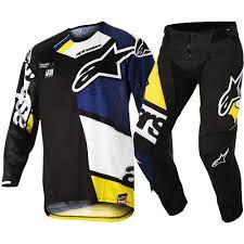 ufo motocross gear 2018 alpinestars techstar factory gear kit black blue white yellow