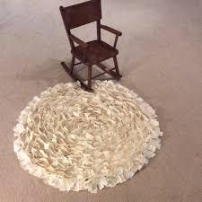 Shabby Chic Bathroom Rugs Ivory Shabby Chic Rag Rug Ivory Tule White Cotton