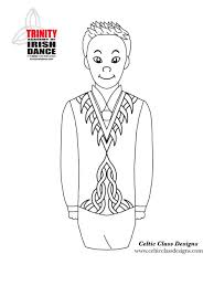 coloring sheets trinity irish dancers