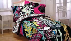 monster high bedroom set home designs monster high bedroom sets monster high right to fright sheet set black walmartcom
